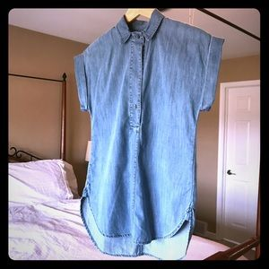 J.Crew Blue Chambray Tunic. 0 P